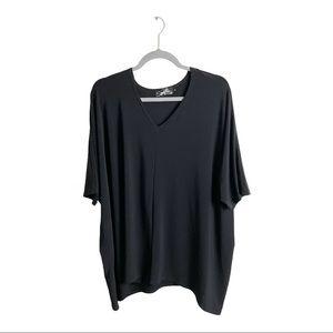 Sympli Short Sleeve Tunic Top Black Size 12